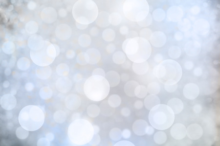 christmas bubbles: background with bokeh defocused blue lights