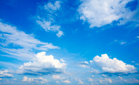 open windows: Beautiful blue sky and white clouds