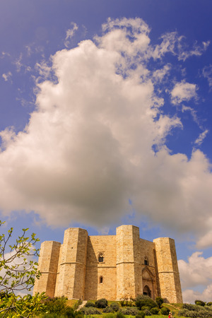 architectural heritage of the world: Castel del Monte: the main facade.-ITALY (Andria) -