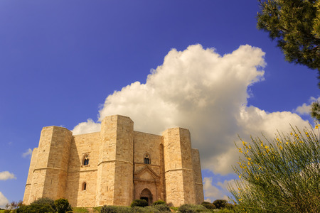 architectural heritage of the world: Stones of Apulia.Castel del Monte: the main facade.-ITALY (Andria) -