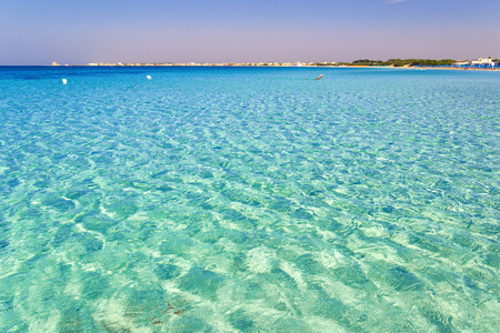 sandy beaches: The most beautiful sandy beaches of Apulia: Porto Cesareo marine, coast.ITALY Salento (Lecce) .It is a tourist resort thanks to its sunny beaches extending for 17 Kilometres and its clear waters.The sandy coastline is caratterizzata by dunes covered with