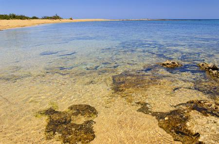 SUMMER LANDSCAPE.Ionian coast of Salento: Porto Cesareo: Great Island Nature Reserve (Lecce) ITALY .- (Apulia) -