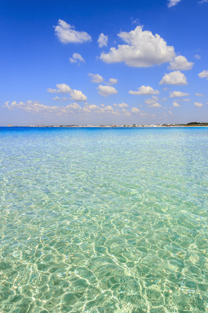 The most beautiful sandy beaches of Apulia:Porto Cesareo marine,Salento coast.ITALY (Lecce). Its marine protected areas thanks to the high biological value of its very rich and varied marine community. Stock Photo