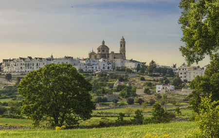 The most beautifull old towns in Italy: Locorotondo, one of the most suggestive skylines of Apulia.