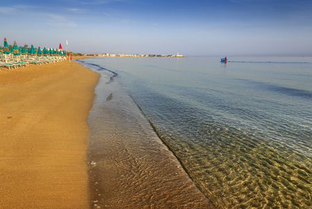 The Regional Natural Park Dune Costiere: Torre Canne beach (Apulia)-ITALY- The park covers the territories of Ostuni and Fasano along eight kilometers of coastline. 免版税图像