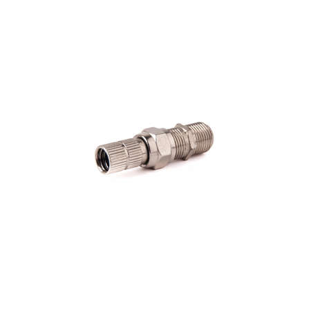 F-rg6 f-type side and f female connector isolated on white background