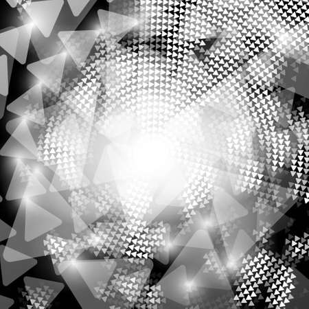 grayscale triangles abstract background Vector