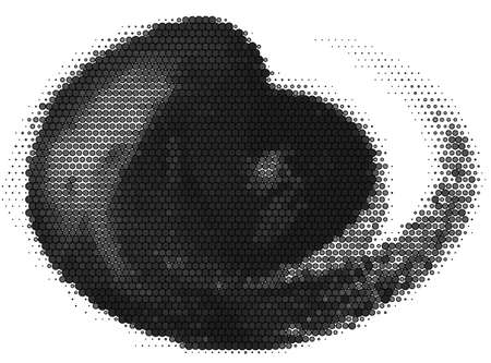 halftone painted abstract vector
