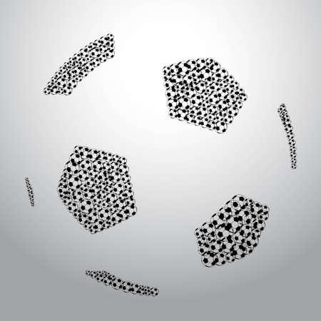 big soccer ball made from small soccer balls Vector