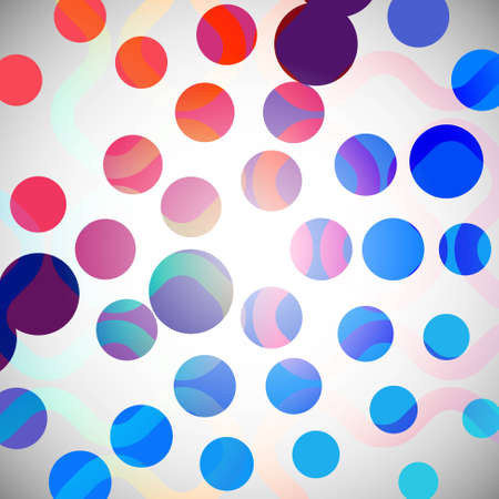 colorful dotted abstract background template Illustration