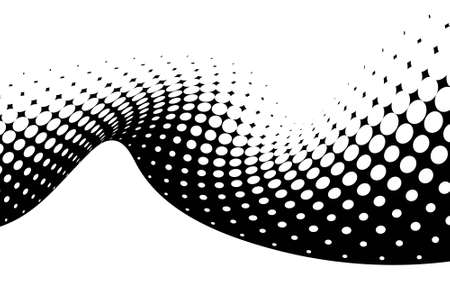 radiate: dotted wave Illustration