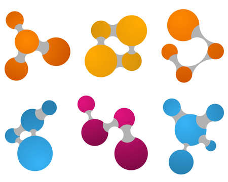 Set of color abstract symbols - vector