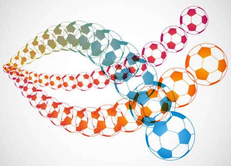 trajectoire: Trajectoire de ballon de soccer Illustration