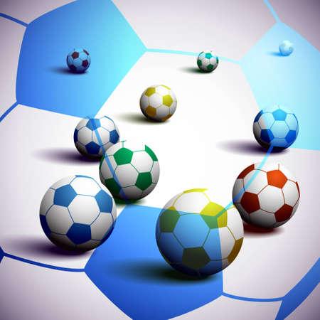 South Africa Soccer Balls Background Illustration