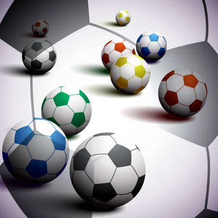South Africa Soccer Balls Background Vector
