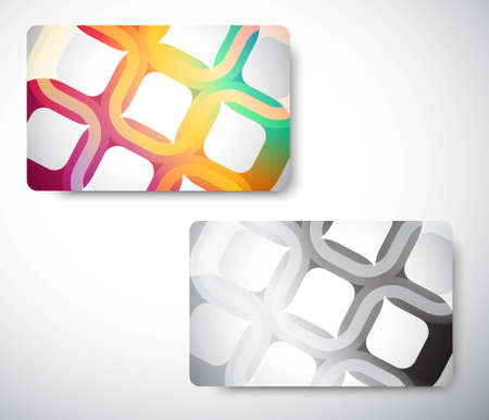 Gift Card front and back - size 3 38 x 2 18  (86 x 54 mm) Vector