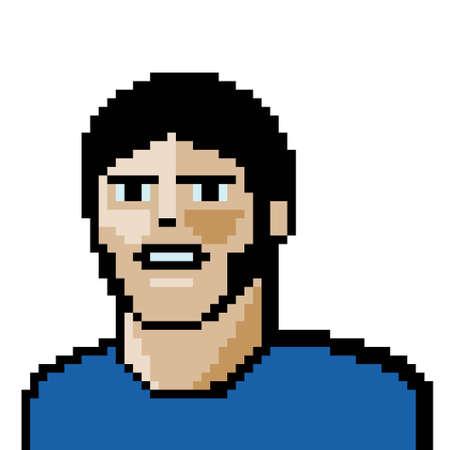 pixel art portrait Vector