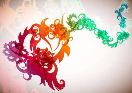 Floral Dragon Illustration