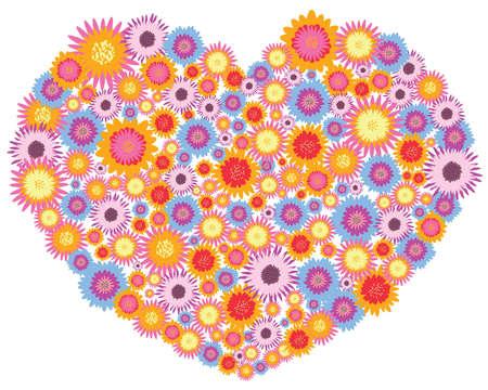 flowers full heart Stock Vector - 9213514