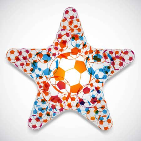 soccerball: Soccer Balls Star Illustration