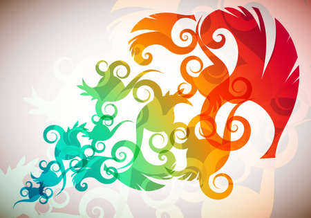 Floral Rainbow Illustration