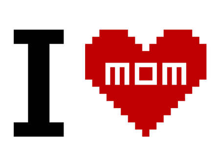 I Love Mom Stock Vector - 10196150