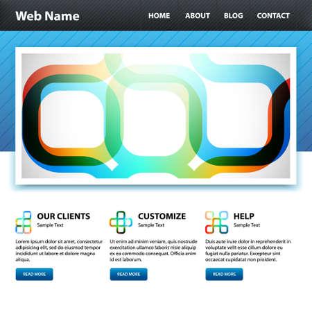 Website design template. Stock Vector - 10537485