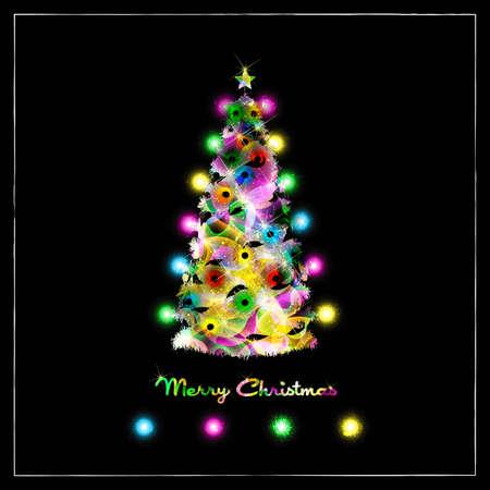Colorful Abstract Christmas Tree Vector