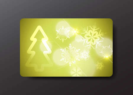 christmas gift card Stock Vector - 10923069