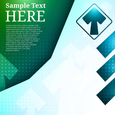 Arrows Background Template with space for text