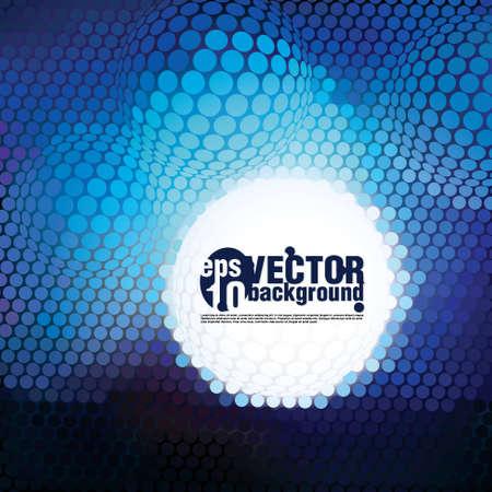 Plastic Blue Circle Mosaic - vector background