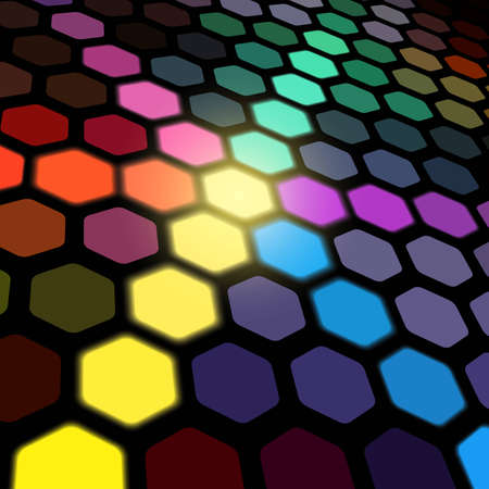 Hexagonal Lights - vector abstract background