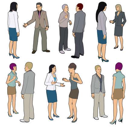 discutere: Persone che parlano