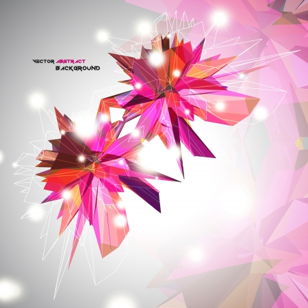 Triangular 3D Abstract Background vector Vector
