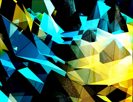 pinnacle: Abstract 3D triangles vector background