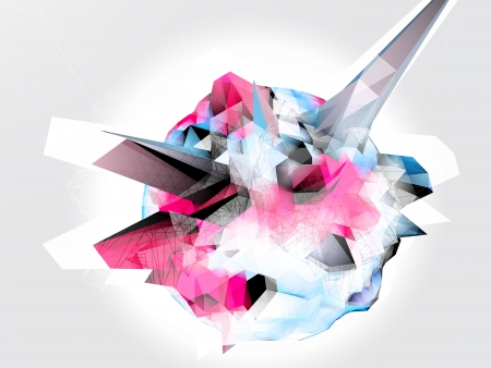 pyramid peak: Abstract 3D vector background