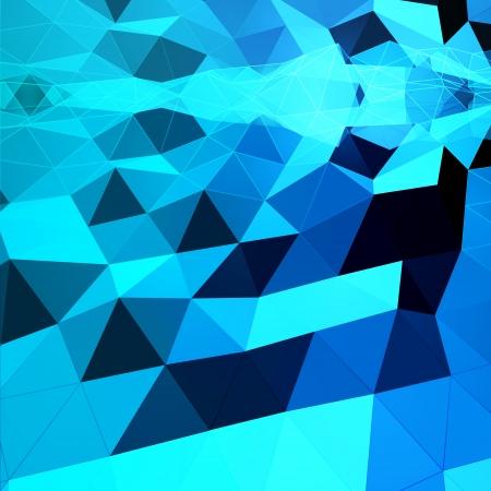 pinnacle: Niebieskie tło abstrakcyjna Trójkątne
