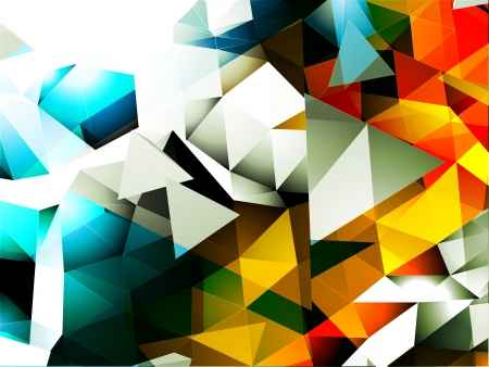 Abstract Triangular Background Stock Vector - 22000465