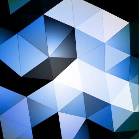 Blue Triangular Background Vector