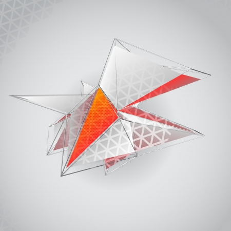 pinnacle: Abstract 3D polygonal background Illustration