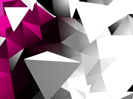 Abstract Triangular Background Illustration