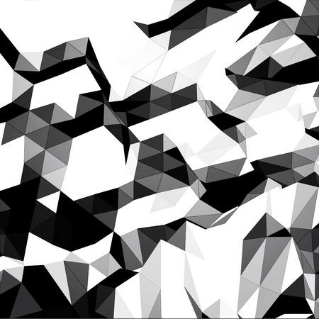 em tons de cinza: Fundo triangular em tons de cinza Ilustração