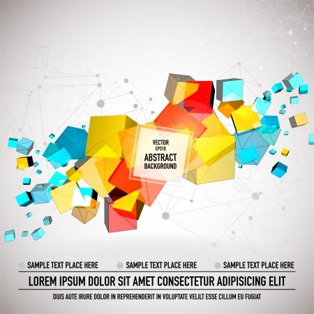 pinnacle: Kolorowe kostki tle