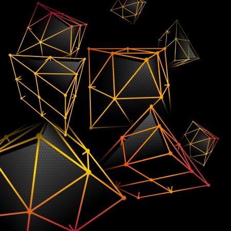 pinnacle: Pyramidal abstract background
