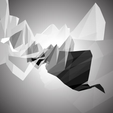 em tons de cinza: Tons de cinza fundo abstrato triangular