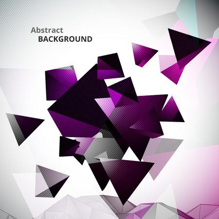 Abstract Violet Triangular Background Illustration