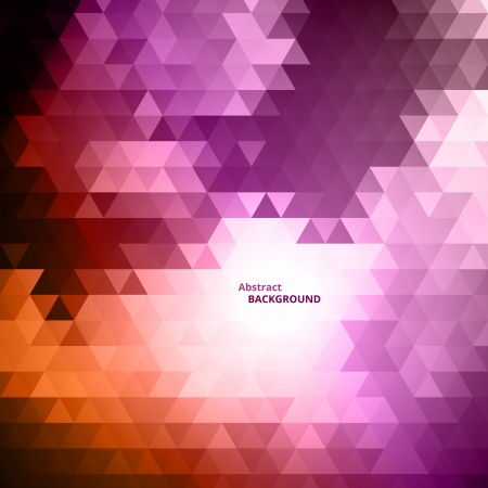Abstract Triangular Mosaic Background