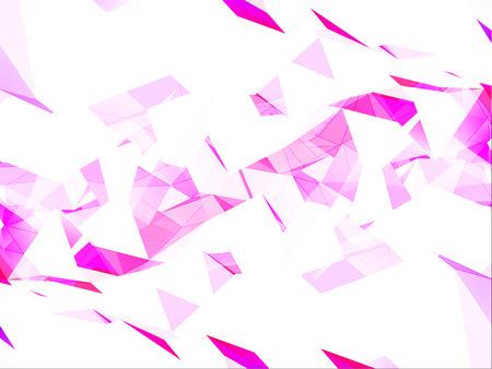 Pink Geometric Background Illustration