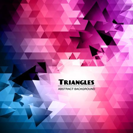 Abstract Triangular Mosaic Background