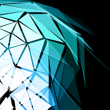 Turquoise Triangular Abstract Vector Background Illustration
